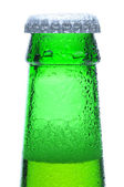 Macro Shot of Green Beer Bottle Neck — Stock Photo