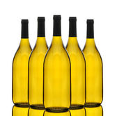 Group of Chardonnay Wine Bottles — Stock Photo