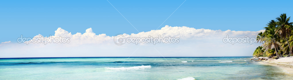Exotic Beach in Dominican Republic, punta cana — Stock Photo #10642305