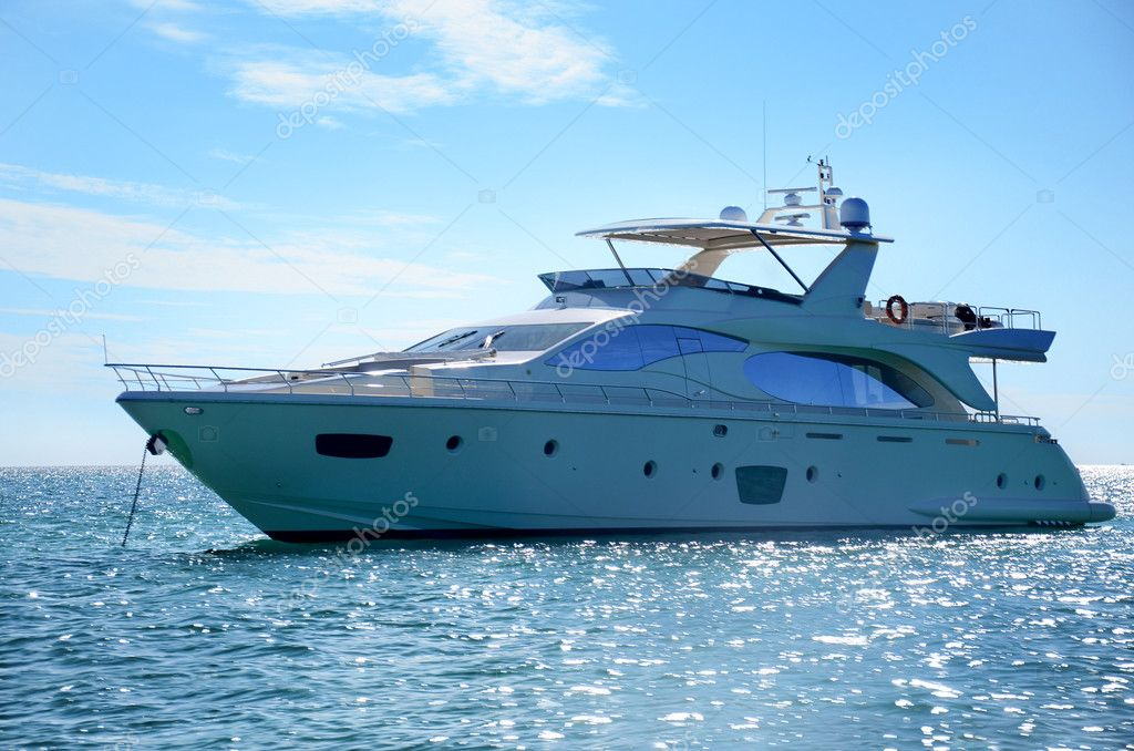Luxury yacht in dominican republic — Stock Photo #10642318