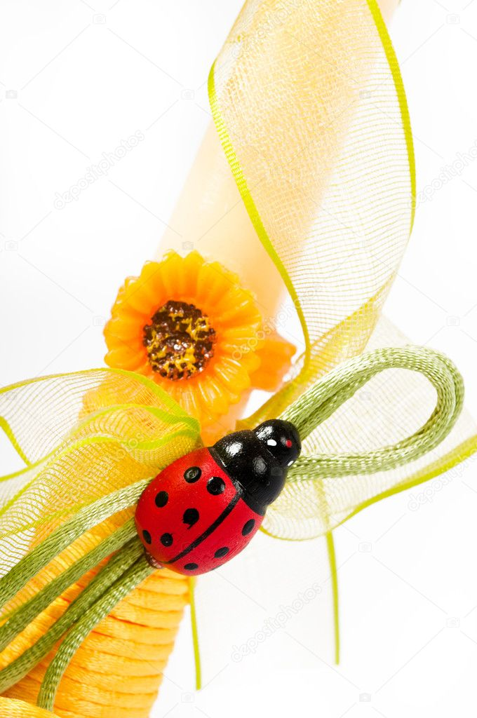 Decoration and ladybug — Stock Photo #9353810