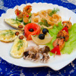 Seafood set - Stock Photo