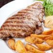Juicy beef steak — Stock Photo