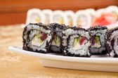 Tuna sushi roll — Stock Photo