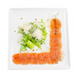 Stock Photo: Fish Carpaccio with salad