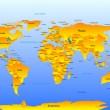Royalty-Free Stock Vectorielle: Vector Map of the World