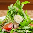 Tasty salad of beef tongue - Stock Photo