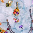 Jewels at ice — Stock Photo