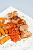 Grilled kebab pork meat — Stock Photo