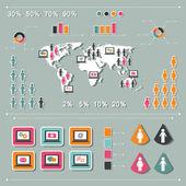 Infographics elementen — Stockvector