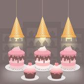 ケーキ屋さん - eps10 — ストックベクタ