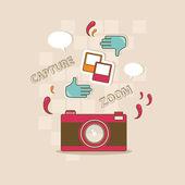 Take a photo! — Stock Vector