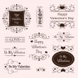 Valentine day decorative labels — Imagen vectorial