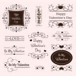 Valentine day decorative labels — Stock Vector