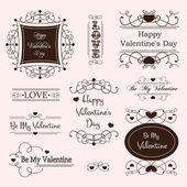 Valentine day decorative labels — Vecteur