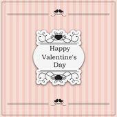 Valentine Day vintage design - eps10 — Stock Vector
