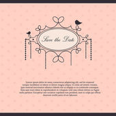 Save the date - invitation card — Stock Vector