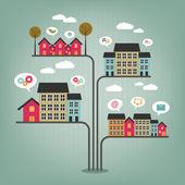 Abstract city concept — Stock Vector