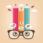 Ser creativo — Vector de stock