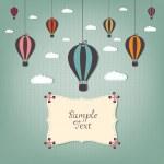 Cartoon design with hot air balloons — Stock Vector