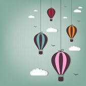 Sıcak hava balonu - hurda elemanları — Stok Vektör