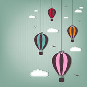 Hot air balloons - scrap elements — Stock Vector