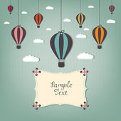 Cartoon design with hot air balloons — Vettoriale Stock
