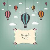 Kreskówka z balonów na ogrzane powietrze — Wektor stockowy