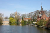 Minnewater in Bruges, Belguim — Stock Photo