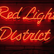 Red Light District — 图库照片