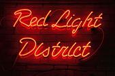 Quartiere a luci rosse — Foto Stock
