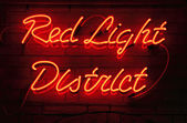 Red light district — Stock fotografie
