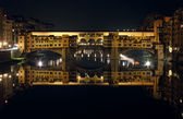 Ponte Vecchio by Night — Stock Photo