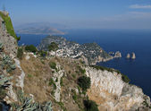 Island Capri - view from the highest point Monte Solaro — Stock Photo