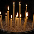 Candles in Basilica di Santa Maria in Trastevere — Stock Photo