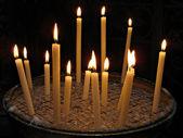 Candles in Basilica di Santa Maria in Trastevere — Stock Photo