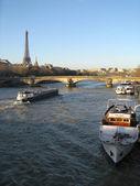 Seineufer in paris — Stockfoto