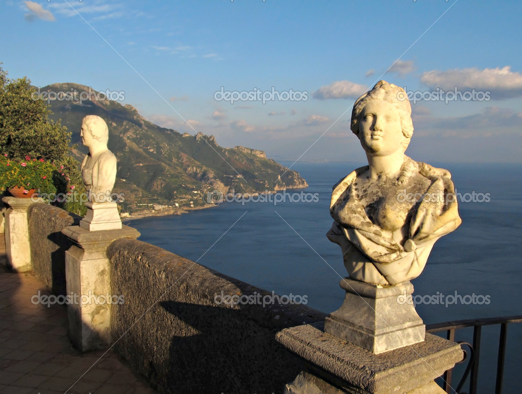Terrace of infinity in ravello on amalfi coast stock for Terrace of infinity