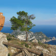 Island Capri view from the highest point Monte Solaro — Stock Photo