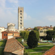 Basilica di San Frediano with palazzo Pfanner gardens — Stock Photo