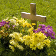 New grave - Stock Photo