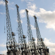 Cranes of the Bristol Industrial Museum - Stock Photo