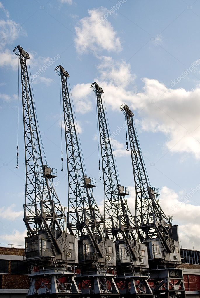 Cranes of the Bristol Industrial Museum — Stock Photo #9571374