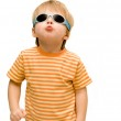 Boy wearing sunglasses — Stock Photo #9631230