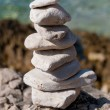 Small stone pyramid — Stock Photo #10454794