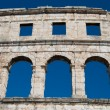 Pula coliseum close up — Stock Photo