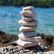 Pebble pyramid — Stock Photo #10455786
