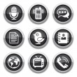 Black communication buttons — Vector de stock #10111147