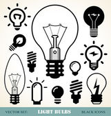 Light bulbs set — Vettoriale Stock