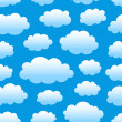 Cloudy sky pattern — Stock Vector